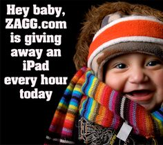 ZAGG is giving away an iPad each hour on Black Friday now is 8:44 in Italy