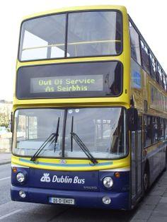 tweetalige bussen in Dublin.