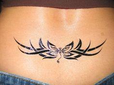 lower back tattoos for women Girl Back Tattoos, Back Tattoo Women, Tattoos For Guys, Tattoos For Women, Cover Up Tattoos, Body Art Tattoos, Tribal Tattoos, Lower Back Tattoo Designs, Lower Back Tattoos