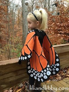 Custom Monarch Butterfly Wings for Claudia in by LiliAndLibby