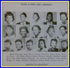 Alpha Xi Chapter of Sigma  Gamma Rho Sorority, Inc.  @ Philander Smith College  in 1941!