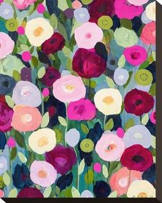 Night Garden Stretched Canvas Print by Carrie Schmitt at Art.com