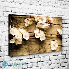 Ağaç Zemin Çiçekler Tablo #dekoratif_kanvas_tablo