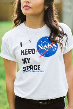 Spring outfit! NASA graphic tee.