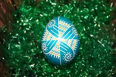 Turquoise & Green Windmill Ukrainian Egg by StiglianoDesigns on Etsy