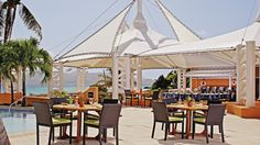 Ritz Carlton St Thomas USVI  our first meal was here outside right by the beach