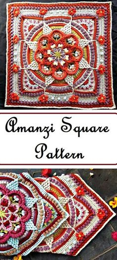 Art of Square Crocheting – Patterns Included #mandalascrochet