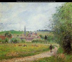 View of Eragny - Camille Pissarro