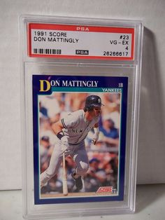 1991 Score Don Mattlingly PSA VG-EX 4 Baseball Card #23 MLB Collectible #NewYorkYankees