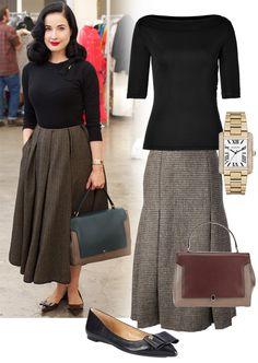 Dita Von Teese Vintage Shopping at A Current Affair   POPSUGAR Fashion
