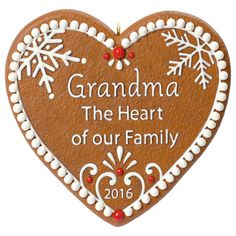 A grandma shares family stories, gives the warmest hugs and is the heart of the family. This sweet ornament reminds you just how much she means. Learn more about Keepsake Ornaments . Ornament Hooks, Heart Ornament, Grandmothers Love, Heart Shaped Cookies, Hallmark Keepsake Ornaments, Heart Decorations, Christmas Tree Ornaments, Christmas Stuff, Christmas Gifts