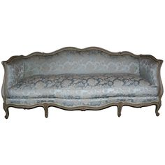 Perfect to go in master bedroom to match the blue  silver theme.  1stdibs - French Louis XV Style Sofa explore items from 1,700  global dealers at 1stdibs.com