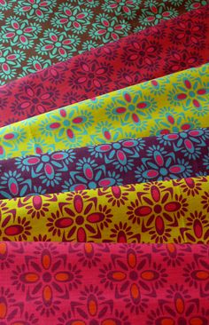 A new one : Ilonka in 6 colors. All rights reserved #fabric #fabrics #pattern