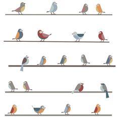 Stickers Petits oiseaux sur un fil ART FOR KIDS : prix, avis & notation, livraison.  Positionnables en frise ou en ligne superposées, ces stickers oiseaux apporteront une jolie touche poétique à une chambre d'enfant.Planche de stickers contenant 22 oiseaux à positionner selon vos envies. Hauteur max - élément : 10 cm.Largeur maximum au mur si disposition en frise : 300 cmDesign : Art For Kids.Parce que les enfants sont créatifs, audacieux, intuitifs, passionnés, Art For Kids se base sur…