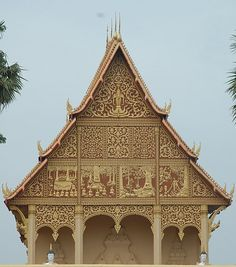 A large Buddhist stupa covered in gold, the Pha That Luang is located in Vientiane, Laos and has been in existence since the 3rd century.