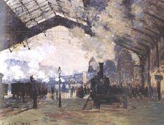 Impressionismo - a Locomotiva ou a Ferrovia