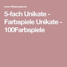 5-fach Unikate - Farbspiele Unikate - 100Farbspiele