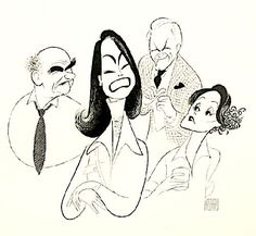 'the mary tyler moore show' by al hirschfeld