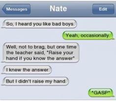 bad boy confession text message lol