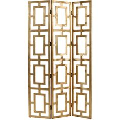 Gilded Hollywood Regency Gold Wood Open Floor Screen ($1,584) ❤ liked on Polyvore featuring home, home decor, panel screens, decor, furniture, screen, gold home decor, gold home accessories, wooden room dividers and wood room dividers