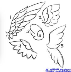 Art tutorials / angel wings on we heart it Angle Wings Drawing, Angel Drawing, Drawing Base, Drawing Reference, Drawing Sketches, Drawing Tips, Drawing Ideas, Easy Drawings, Art Tutorials