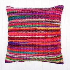 The Importer - Multi Pink Chindi Large Cushion