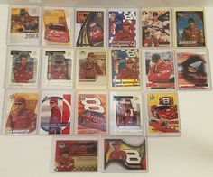 DALE EARNDARDT JR NASCAR CARDS LOT OF 37