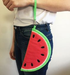 Watermelon Zippered Clutch Bag 5x7 6x10 7x12 In The Hoop Machine Embro– Sweet Pea