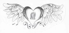 heart drawings drawing wings hearts pencil draw roses easy valentines things designs clipart cliparts coloring flower deviantart library sketches visit