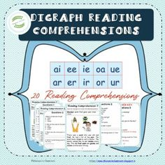 20 Reading Comprehension Passages-Jolly Phonics Digraphs Practice