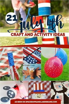 There are lots of things for kids to do to celebrate the 4th of July! This list of ideas includes great crafts and activities for safe fun without pyrotechnics!