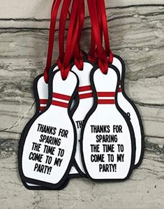 Bowling Pin Party Favor Gift Tags Bowling Birthday Party | Etsy Bowling Birthday Cakes, Bowling Birthday Invitations, Party Invitations Kids, Invitation Ideas, Invites, Kids Bowling Party, Bowling Party Themes, Bowling Pins, Bowling Quotes