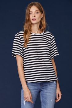 c2811668a4 LNA Clothing – LNA Clothing Relaxed Fit Black and White Striped Tee Lna  Clothing, Black