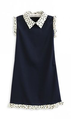 Sleeveless dotted slim-fit dress . the dress can make you look slimmer