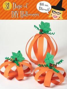 paper pumpkins #halloween #pumpkins