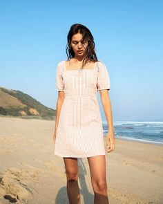 Mini Dress With Sleeves, Cool Outfits, Short Sleeve Dresses, Photoshoot, Cute, Summer, Cotton, Clothes, Style