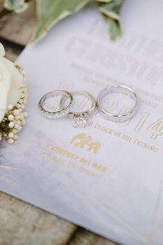 Modern Romantic California Wedding - engagement ring; Shane and Lauren Photography