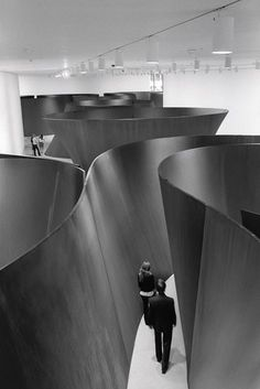 Noted, AVL: sculptural installation by Richard Serra. Moving through his work is a full body experience. Get started on liberating your interior design at Decoraid in your city! NY | SF | CHI | DC | BOS | LDN https://www.decoraid.com