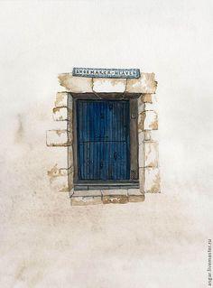 """""""Обувщик"""" серия """"Двери в иные миры"""" миниатюра - васильковый, синий, темно-синий, голубой"""