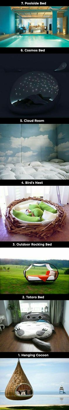7 Awesome Sleeping Creations That Geeks Would Love(Cool Furniture Dream Rooms) Awesome Bedrooms, Cool Rooms, Dream Rooms, Dream Bedroom, My New Room, My Room, Future House, My House, Cool Beds