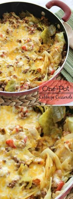 If you have any cabbage fans in your house then we have a recipe that you're really going to love! It's for a One Pot Cabbage Casserole from Diary of a Recipe Collector, and it's even easier to make than regular cabbage rolls.