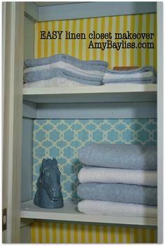 Linen closet makeover!