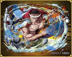 Barbe Blanche One Piece Treasure Cruise One Piece Fanart, One Piece Anime, Anime One, Anime Guys, Cracker One Piece, One Piece Bounties, One Piece New World, Brooks One Piece, One Piece Photos