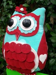 Image of Lady Starla Willow Owl PDF Epattern Ebook Tutorial Bird Easy Girl Pillow Softie Toy