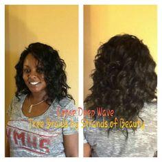 #treebraids by #strandsofbeauty in Loose Deep wave hair.