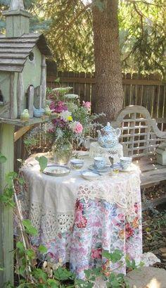 teapot. on cake plate. nice.