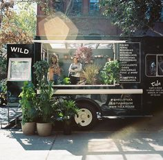 The Plant Doctors Are In Welcome to Tula House, Brooklyn's Mobile Greenhouse is part of Flower truck - Yes, they even make house calls Flower Truck, Flower Cart, Brooklyn, Planter Accessories, Mobile Coffee Shop, Flower Shop Design, Mobile Boutique, Mobile Shop, Mobile Cafe