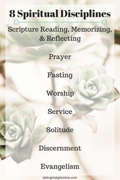 8 Spiritual Disciplines: Three-Fasting – Letting His Light Shine Prayer For Studying, Prayer And Fasting, Worship The Lord, Spiritual Disciplines, Scripture Reading, Prayer Room, Daughters Of The King, Jesus Quotes, Faith In God
