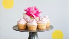 Rosewater & vanilla cupcakes