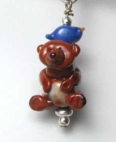 Hey, I found this really awesome Etsy listing at https://www.etsy.com/listing/178651190/bluebird-and-bear-charm-pendant-handmade
